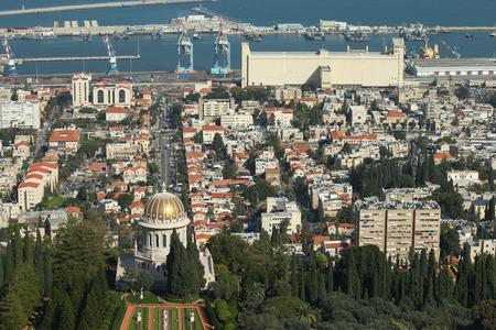Panoramic view of Haifa,Israel photo