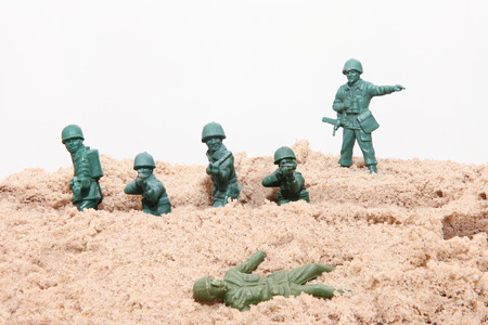 Toy soldiers at war Banco de Imagens