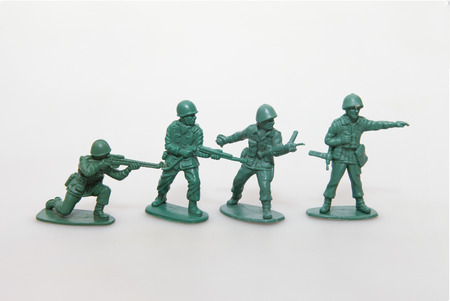 soldiers: Toy soldiers at war Stock Photo