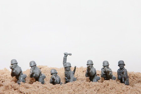 green military miniature: Plastic toy Soldiers
