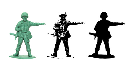 man of war: Plastic toy Soldier vector