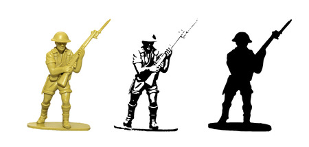 plastic soldier: Plastic toy Soldier vector