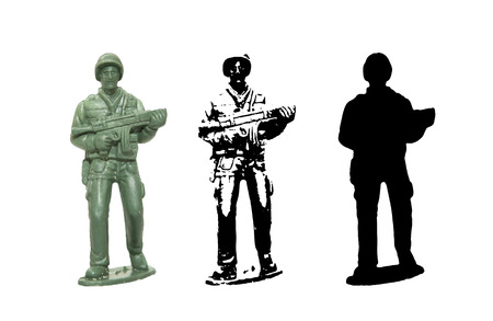 toy soldier: Plastic toy Soldier vector