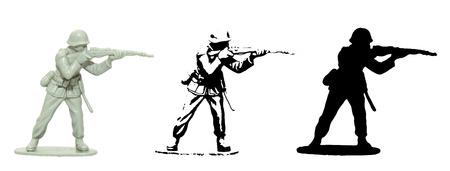 Plastic toy Soldier vector