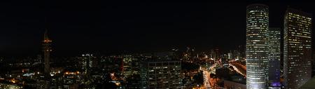 Tel Aviv skyline at night Banco de Imagens - 34890537