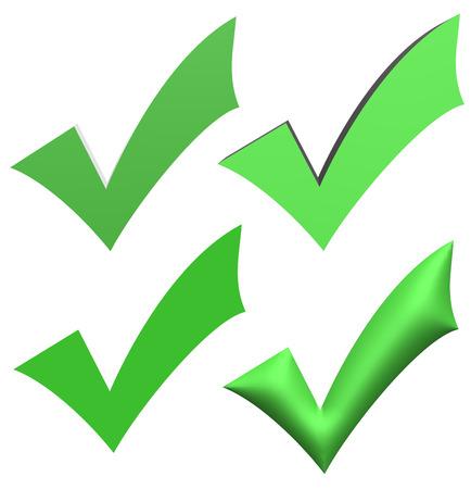Segni di spunta verde V Archivio Fotografico - 35317011