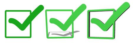 validation: Green V check marks