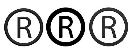 registered: Registered R icons