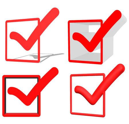 validation: Red V check marks