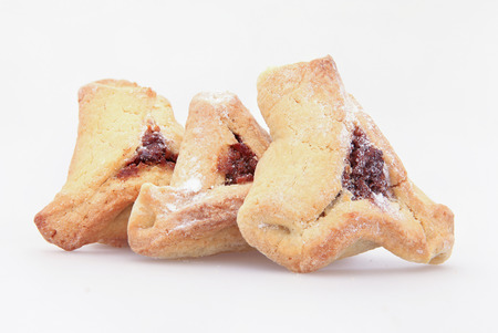 oznei: Traditional Jewish holiday food Purim Hamantaschen Stock Photo