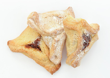 hamantaschen: Traditional Jewish holiday food Purim Hamantaschen Stock Photo