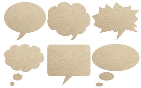 textured paper: Paper textured speech bubbles
