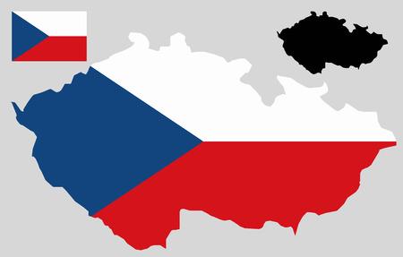 Czech Republic map and flag vector Banco de Imagens - 35851128