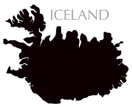contour: Iceland map contour