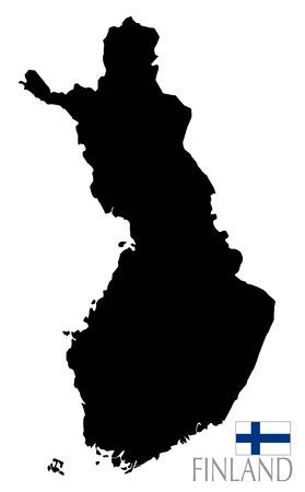 contour: Finland map and contour shape Stock Photo
