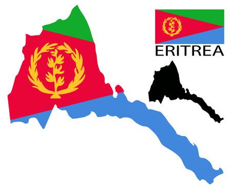eritrea: Eritrea - Map and flag