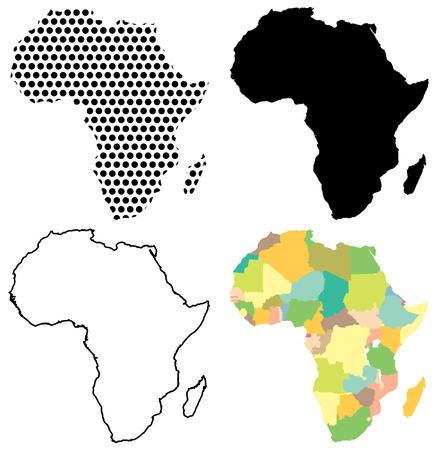 Four Vector maps of Africa Banco de Imagens - 36575557