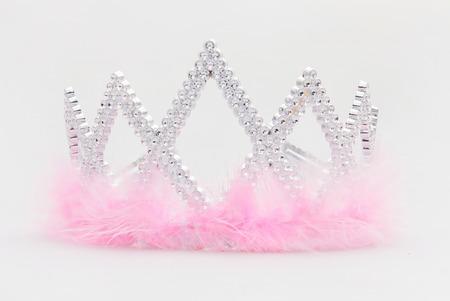 Diamond tiara with pink fur Banco de Imagens - 36632938