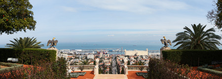The Bahai Temple and gardens in Haifa, Israel photo