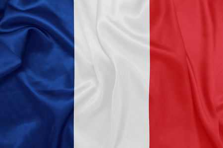 wind: France - Waving national flag on silk texture