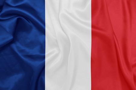 viento: Francia - Ondeando la bandera nacional en la textura de la seda
