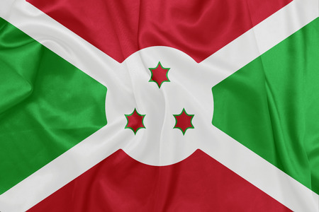 burundi: Burundi - Waving national flag on silk texture