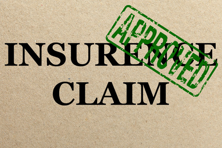 Paper texture with Approved insurance claim