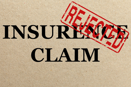 Paper texture with Rejected insurance claim