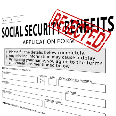 Social Security Application Form With Green Approved Rubber Stamp