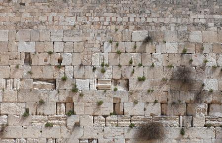 Stenen van de Klaagmuur, Jeruzalem, Israël.