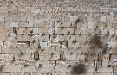 Stones of the Wailing wall, Jerusalem, Israel. Stock Photo