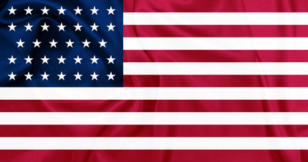 civil war: American Civil war - The United States of America from 1861 to 1863 Union (North) waving flag with silk texture