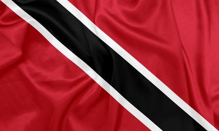national flag trinidad and tobago: Trinidad and Tobago - Waving national flag on silk texture Stock Photo