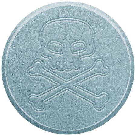 ecstasy: Azul �xtasis p�ldora aislado en blanco