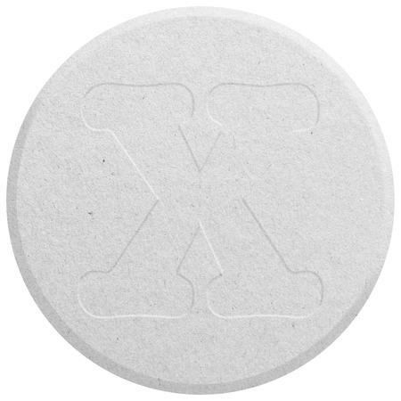 ecstasy: Blanca �xtasis p�ldora aislado en blanco