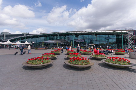 schiphol: Main entrance to Schiphol Airport Editorial