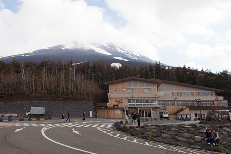 Fuji Subaru line 5th station halfway point of the Yoshida Trail which leads from Fujiyoshida Sengen Shrine at the mountains base to the summit of Mount Fuji