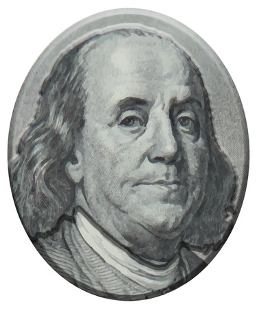 ben franklin money: Benjamin Franklin 3D portrait