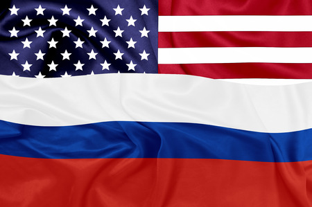 federation: United states and Russian federation flags Stock Photo