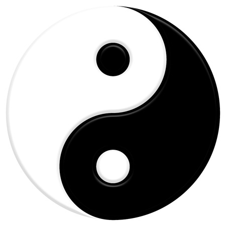 poison symbol: Yin Yang symbol Stock Photo