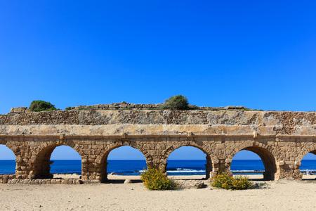 caesarea: Caesarea aqueduct, Israel.