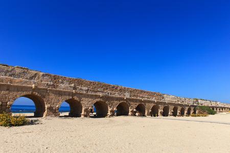 aqueduct: Caesarea aqueduct, Israel.
