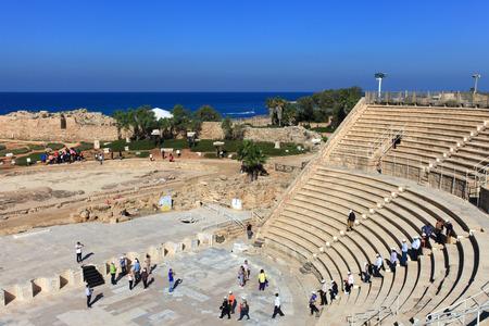 roman amphitheater: Roman amphitheater built in the times of King Herodes