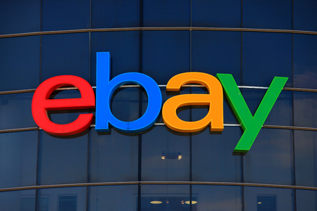 ebay: Ebay logo, ebay is an American multinational corporation and e-commerce company Editorial