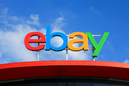 paypal: Ebay logo, ebay is an American multinational corporation and e-commerce company Editorial
