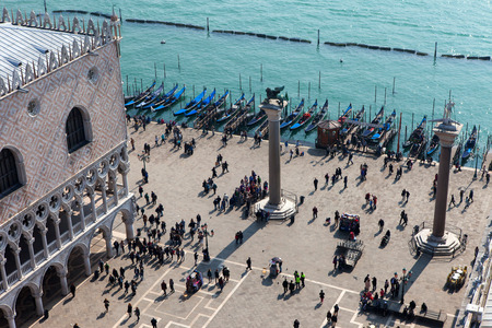 doge's palace: Saint Marks square in Venice, Italy. Editorial