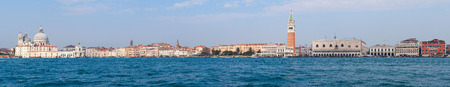 marco: Panoramic view of Venice and San Marco piazza Stock Photo