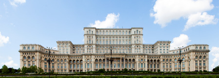 timelapse: Palace of the Parliament in Bucharest, Romania