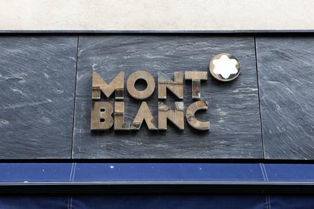 blanc: Mont Blanc logo.