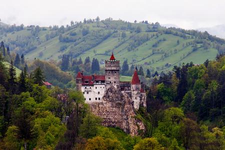 Castello di Dracula in crusca, Romania. Archivio Fotografico